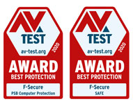 F-Secure has won its eighth and ninth Best Protection Awards from AV-TEST for home and business users